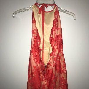 Wanelo backless halter lace dress